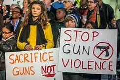 students protest guns